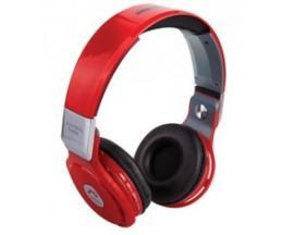 Auriculares reproductor mp3 woo ps400b/ bluetooth/ microfono/ fm / micro sd / manos libres/ rojo - Imagen 1