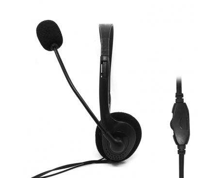 Auriculares con microfono phoenix phmk610mv+ sonido estereo/ ideal para conferencias conexion jack 3.5mm - Imagen 1
