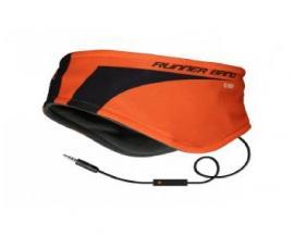 Cinta diadema sbs para correr con auriculares naranja