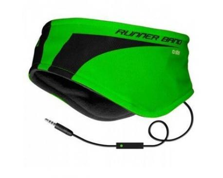 Cinta diadema sbs para correr con auriculares verde - Imagen 1