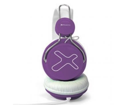 Auriculares con microfono phoenix 720 air morado - Imagen 1