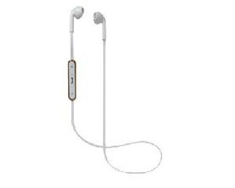 Auriculares bluetooth de boton nevir blanco - Imagen 1
