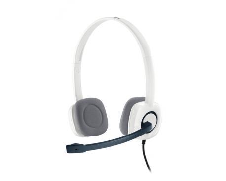Auriculares con microfono logitech headset h150 blanco - Imagen 1