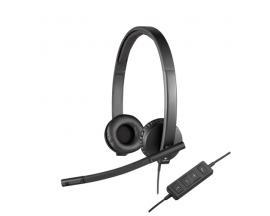 Auriculares logitech h570e con microfono/ stereo diadema/ usb - Imagen 1