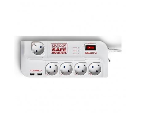 Regleta salicru sps.safe master proteccion inteligente 5 tomas schuko hub usb - Imagen 1