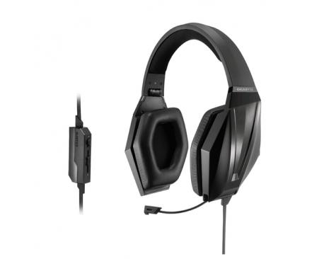 Auriculares gigabyte thunder h3x gaming microfono retractil 2m negro - Imagen 1
