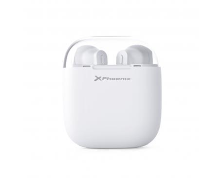 Auriculares phoenix earpods bluetooth / hasta 3.5 horas autonomia / estuche con powerbank 8-10 recargas / blancos - Imagen 1