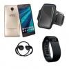 """Telefono movil smartphone woo casiopea 3 dorado/ 5"""" + pulsera de actividad + brazalete impermeable + auriculares deportivos+pow"""