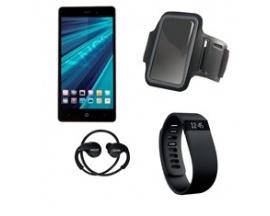 "Telefono movil smartphone woo casiopea 3 negro 5"" + pulsera de actividad + brazalete impermeable + auriculares deportivos+power"