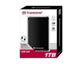 "Disco duro externo hdd transcend storejet 1tb/ 2.5""/ usb 3.0/ ts1tsj25a3k - Imagen 1"
