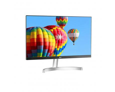 "Monitor led ips lg 24mk600m 23.8"" fhd 5ms vga hdmi blanco - Imagen 1"