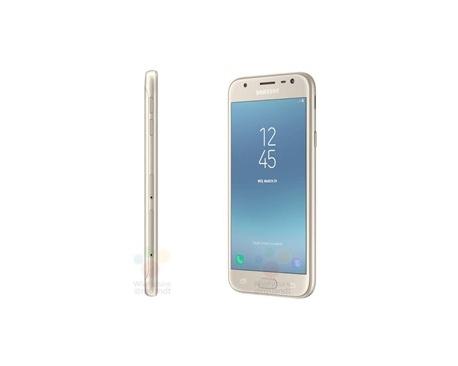 Telefono movil smartphone samsung galaxy j3 (2017) gold / 16gb rom / 2gb ram / 13 mpx - 5 mpx / quad core 1.4 / dual sim - Image