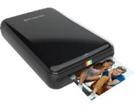 Impresora polaroid zip mobile negra pack papel 10 fotos