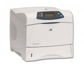 HP LJ 4250N Tamaño de papel A4 · Blanco y negro 43ppm · Resolución 1200x1200ppp · Memoria RAM 64Mb. · Paralelo, USB, Red · Bande