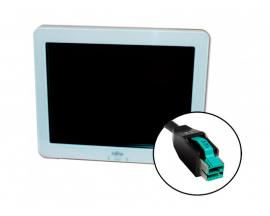 Fujitsu 3000LCD Sin peana. Táctil 12 '' 4:3 · Resolución 800x600 · 1x VGA · USB powered