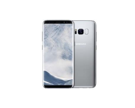 """Telefono movil smartphone samsung galaxy s8 plus silver / 6.2"""" / 64gb rom / 4gb ram / 13mpx -8mpx / octa core / 4g / lector de"""