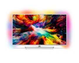 "Tv philips 43"" led 4k uhd/ 43pus7363 / hdr plus/ ambilight x3/ quad core/ ultraplano/ android tv/ 4 hdmi/ 2 usb/ dvb-t/t2/t2-hd/"