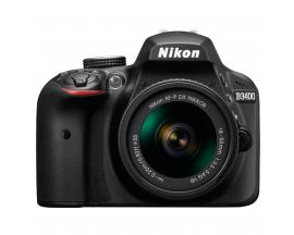 Camara digital reflex nikon d3400 negro 24.2mp afp dx nikkor 18-55mm no vr + estuche + libro - Imagen 1
