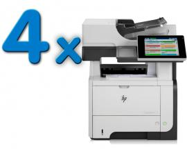 HP LJ M500 MFP M525f Pack 4Pack 4 Unidades: Tamaño de papel A4 · Dúplex · Blanco y negro 42ppm · Resolución 1200x1200ppp · M