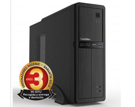 Ordenador de oficina phoenix oberon pro intel core i5 8º gen 8gb ddr4 240 gb ssd rw micro atx slim pc sobremesa - Imagen 1