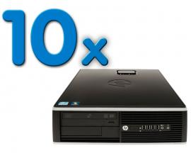 HP 8000 Elite SFF Pack 10Pack 10 Unidades: Intel Core 2 Duo E8400 3 GHz. · 4 Gb. DDR3 RAM · 250 Gb. SATA · DVD · COA Windows