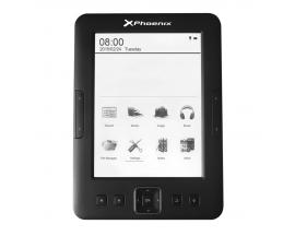 """Libro electronico ebook phoenix ereader 6"""" tinta electronica / e-ink / front light / con luz /  4gb / 128ram / micro usb / negro"""
