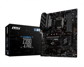 Placa base msi intel z390-a pro socket 1151 ddr4x4 max 64gb 4400mhz vga dvi-d display port  atx - Imagen 1