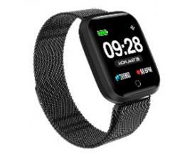 "Reloj innjoo sport watch negro metalico cuadrado/ 1.33""/ 512kb rom/ 64kb ram/ bluetooth 4.0 - Imagen 1"