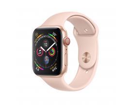 Reloj apple watch series 4 40 mm caja de aluminio en color oro con banda deportiva rosa arena gps