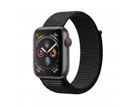 Reloj apple watch series 4 44 mm caja de aluminio en color gris espacial con lazo negro deportivo