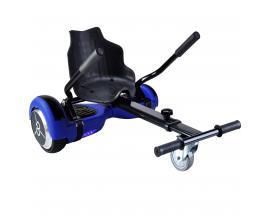 "Kit asiento kart + hoverboard skateflash k9 azul rueda 6.5"" bateria 4400mah motor 500w"