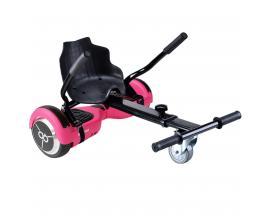 "Kit asiento kart + hoverboard skateflash k9 rosa rueda 6.5"" bateria 4400mah motor 500w / bolsa de transporte"