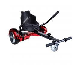 "Kit asiento kart + hoverboard skateflash k9 rojo cromado rueda 6.5"" bateria 4400mah motor 500w"