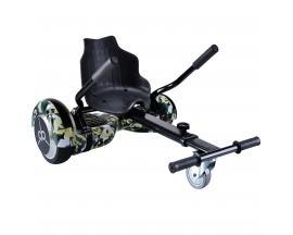"Kit asiento kart + hoverboard skateflash k9 military rueda 6.5"" bateria 4400mah motor 500w"