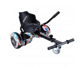 "Kit asiento kart + hoverboard skateflash k9 streetdance rueda 6.5"" bateria 4400mah motor 500w"
