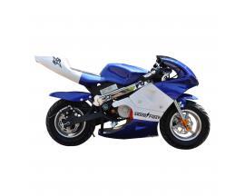 "Mini moto electrica skateflash poket azul rueda 13"" bateria 12a motor 300w - Imagen 1"