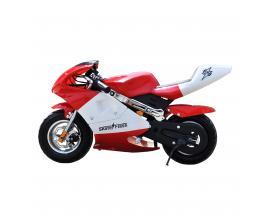 "Mini moto electrica skateflash poket roja rueda 13"" bateria 12a motor 300w"