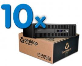 HP EliteDesk 800 G1 Pack 10Pack 10 Unidades: Intel Core i5 4570 3.2 GHz. · 8 Gb. DDR3 RAM · 500 Gb. SATA · DVD-RW · COA Wind