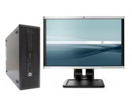 HP 800 G1 SFF i5 + TFT 22''Intel Core i5 4570 3.2 GHz. · 8 Gb. DDR3 RAM · 500 Gb. SATA · DVD · COA Windows 7 Pro actualizado