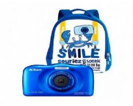 "Camara nikon w100 blanca + mochila /sumergible/13.3mp/pantalla 2.7""/zoom 3x/vr/wifi/full hd/bt/snapbridge - Imagen 1"