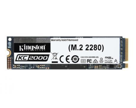Kingston Technology KC2000 unidad de estado sólido M.2 1000 GB PCI Express 3.0 3D TLC NVMe - Imagen 1