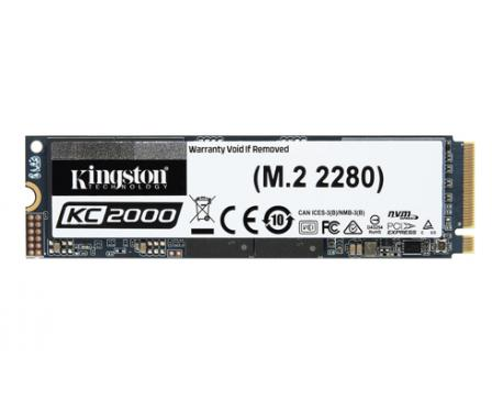 Kingston Technology KC2000 unidad de estado sólido M.2 500 GB PCI Express 3.0 3D TLC NVMe - Imagen 1