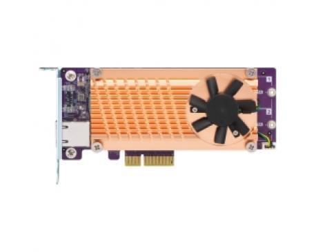 QNAP QM2-2S10G1TA tarjeta y adaptador de interfaz M.2,RJ-45 Interno - Imagen 1