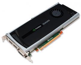 Nvidia Quadro 4000   475 MHz. - Hasta 2560 x 1600 dpi - 2 Gb. RAM GDDR5 - 1xDVI, 2xDisplayPort - PCI Express X16