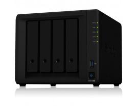 Servidor nas synology disk station ds918+ 4gb 4 bahias  raid  ethernet gigabit
