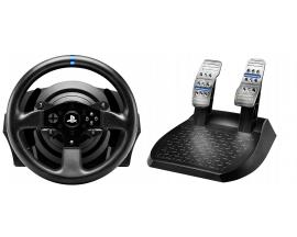 T300RS Volante + Pedales PC, Playstation 3, PlayStation 4 Negro - Imagen 1