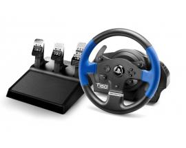 T150 PRO ForceFeedback Volante + Pedales PC,PlayStation 4,Playstation 3 Negro, Azul - Imagen 1